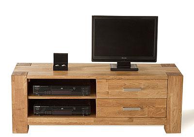 TV-Lowboard Wildeiche massiv Holz Oberfläche geölt