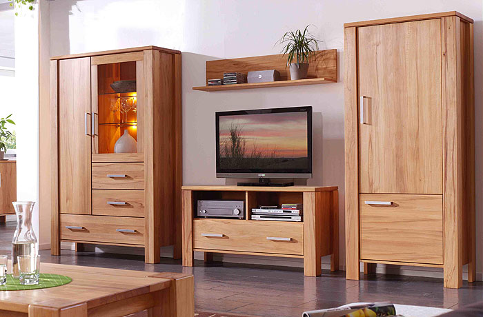 wohnwand gulliver kernbuche massiv holz ge lt massivholz. Black Bedroom Furniture Sets. Home Design Ideas