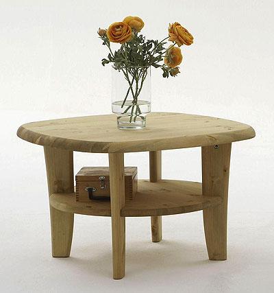 Beistelltisch Kiefer massiv Holz Oberfläche gelaugt geölt