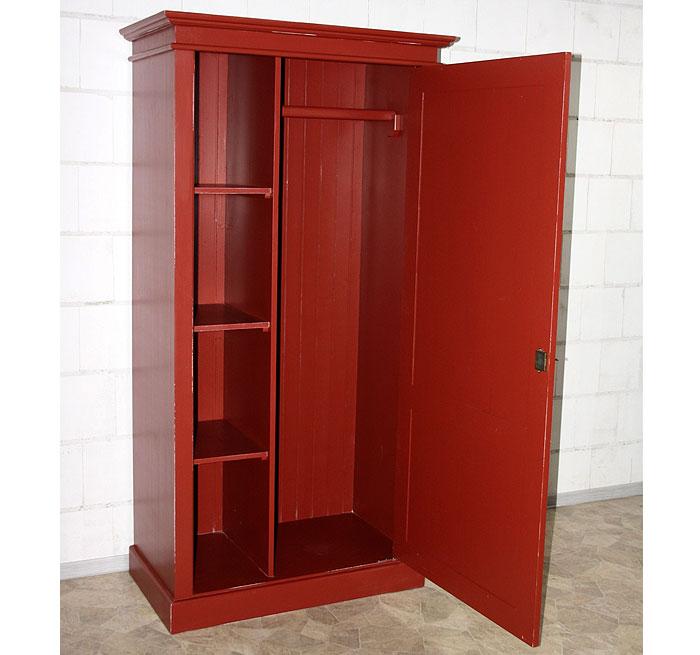 Bunte Möbel Dielenschrank Fichte massiv rot shabby