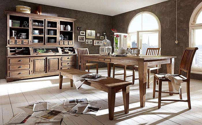 Esszimmer landhausstil massiv  Teak Holz Massivholzmöbel unbehndelt - Möbel aus Goslar Massivholz ...