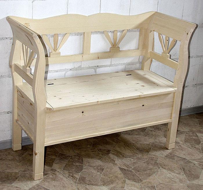 Sitzbank Fichte massiv Holz unbehandelt