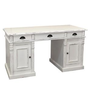 Schreibtisch grau beige shabby Fichte massiv