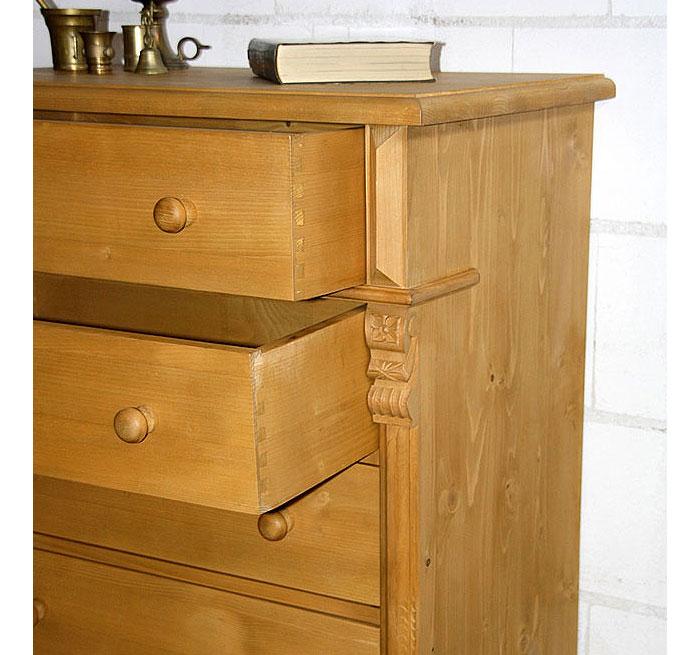 Schubladenkommode antik gewachst Fichte massiv Holz