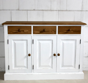 sideboard fichte massiv holz weiss shabby antik gewachst abgesetzt massivholz m bel in goslar. Black Bedroom Furniture Sets. Home Design Ideas