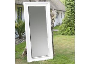 Spiegel mit Holzrahmen Eiche massiv weiss lackiert