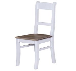 Stuhl Fichte massiv weiß dunkel gewachst