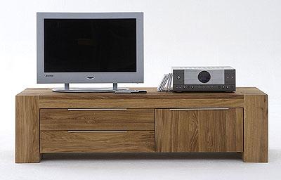TV Lowboard Wildeiche Massiv Holz Gelt Balder