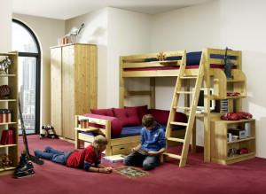 Jugendzimmer Kiefer massiv