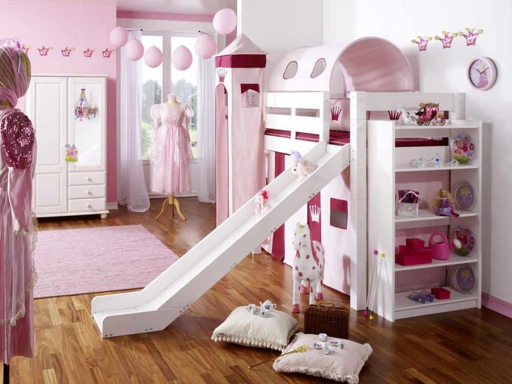 kinderzimmer m dchen pink prinzessin holz massivholz. Black Bedroom Furniture Sets. Home Design Ideas