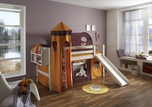 Kinderbett Spielhöhle Rutsche