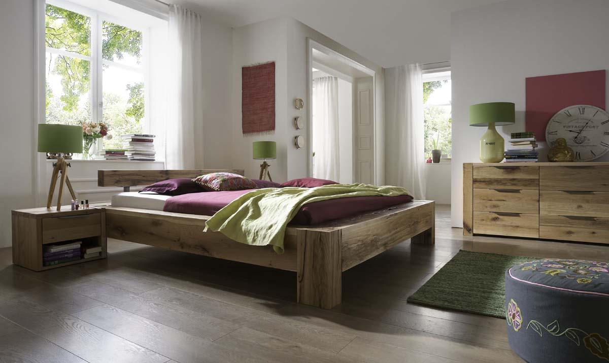 Best Echtholz Unikat Doppelbett With Bett Eiche Massiv X With Bett Eiche  Massiv 180x200