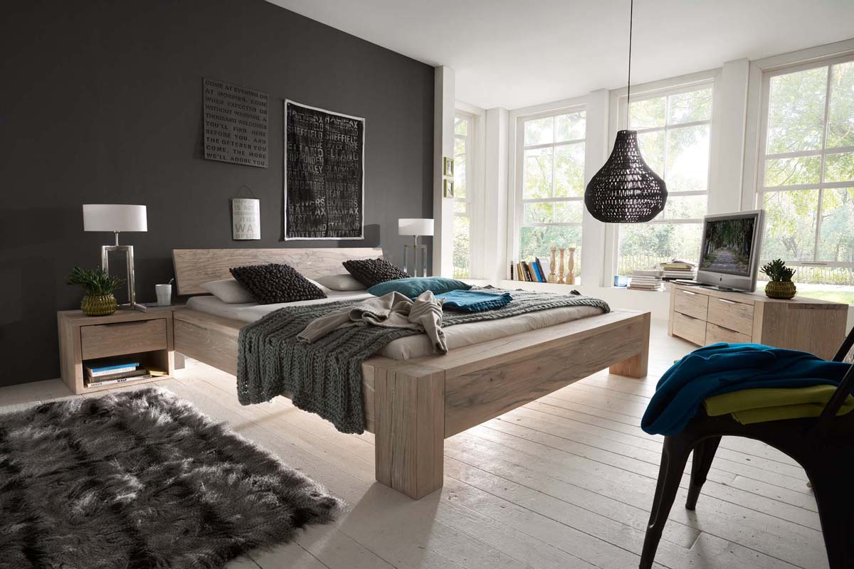 schlafzimmer echtholz. Black Bedroom Furniture Sets. Home Design Ideas