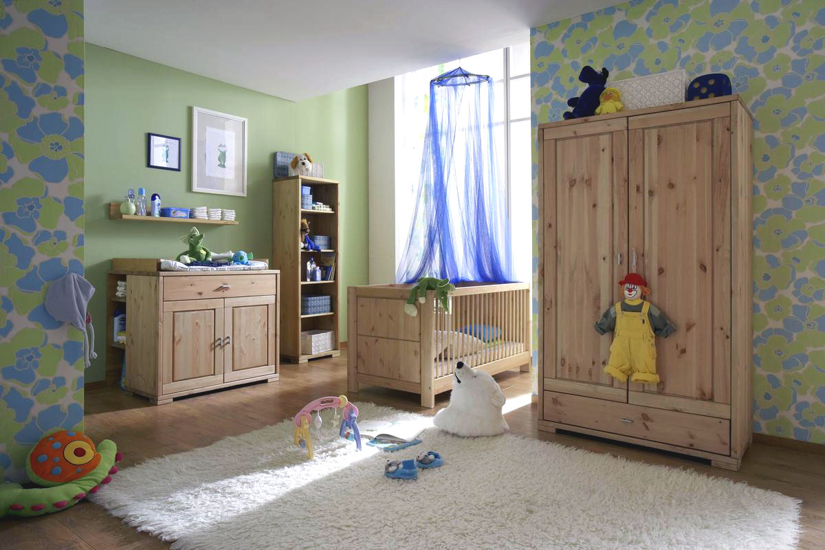 babyzimmer massiv kiefer gelaugt geoelt guldborg. Black Bedroom Furniture Sets. Home Design Ideas