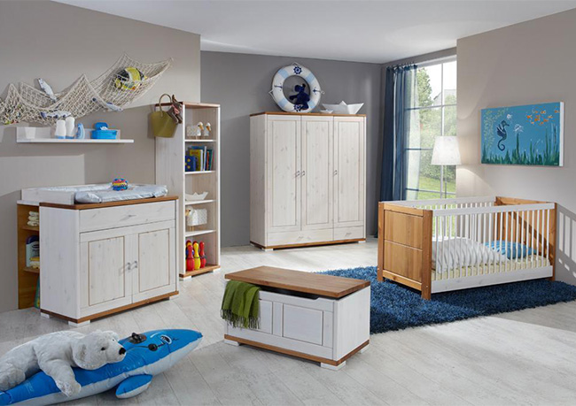 Babymöbel Landhausstil massiv Guldborg