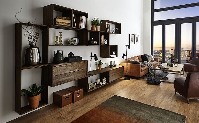 wohnzimmmerwand rustikal eiche schwebend massivholz cube. Black Bedroom Furniture Sets. Home Design Ideas