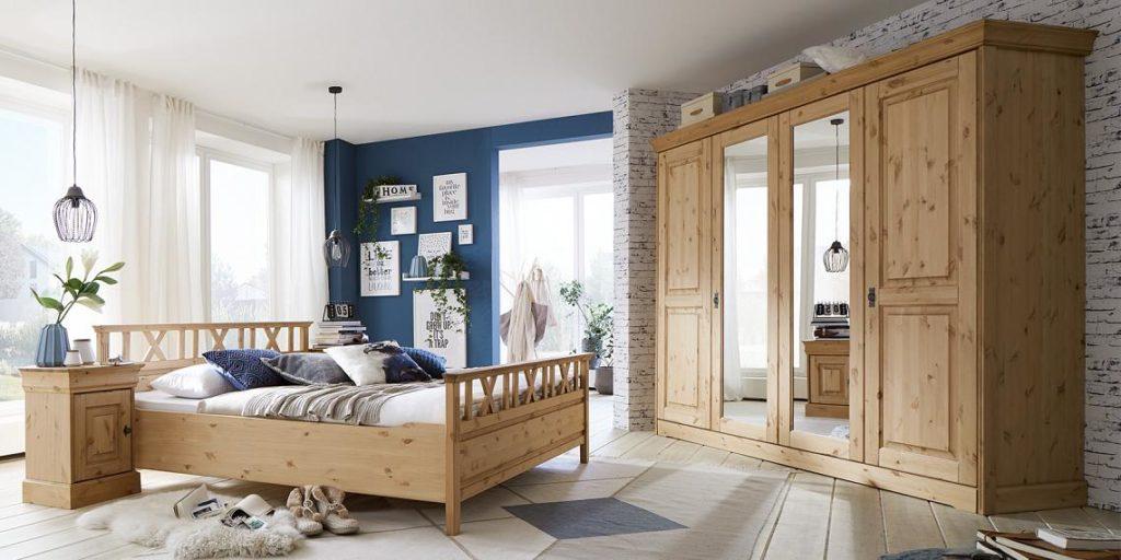 massivholz schlafzimmermoebel aus kiefer