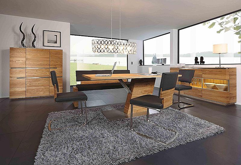 massivholz esszimmer aus rustikaler asteiche gefertigt von wimmer wohnkollektionen