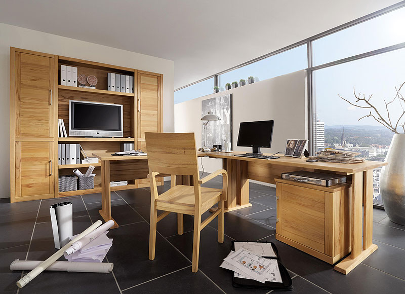 Büromöbel massiv Holz Buche Möbel Büroeinrichtung