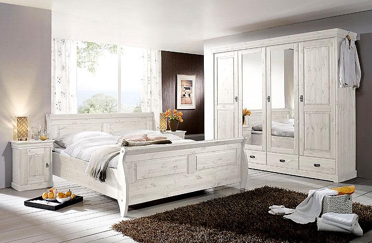 Massivholzmöbel Schlafzimmer Kiefer Massivholz weiß