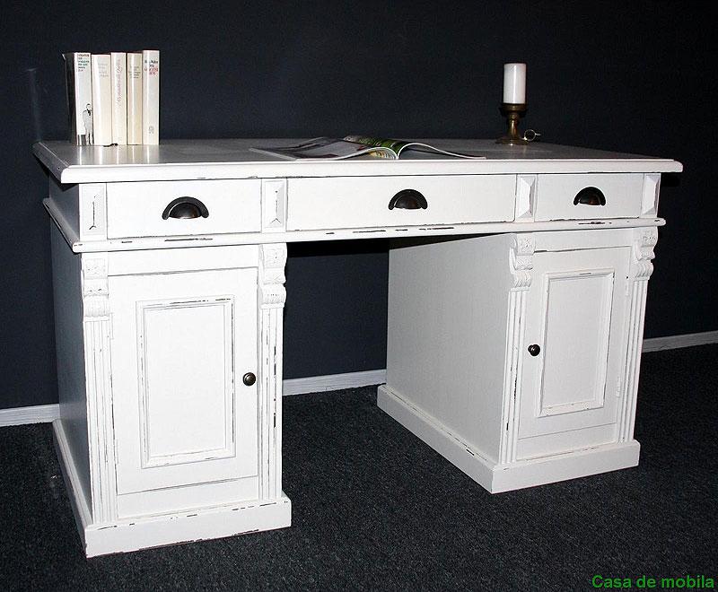 Schreibtisch weiss - Vintage Möbel
