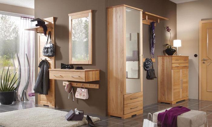 Massivholzmöbel Garderobe - Dielenmöbel massiv - Buche Vollholz