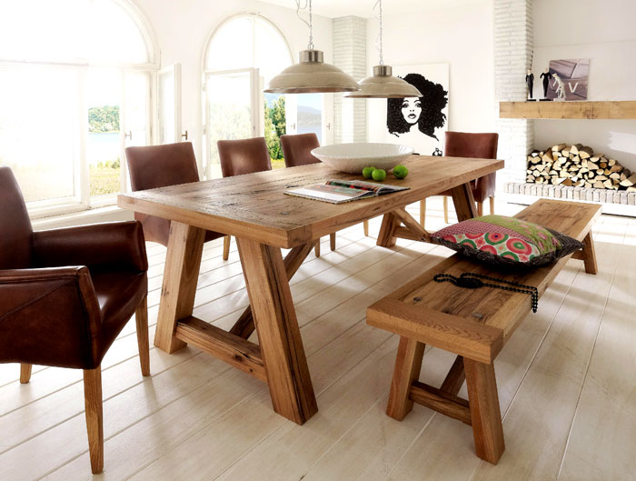 Massivholzmöbel Esstisch - Esszimmermöbel