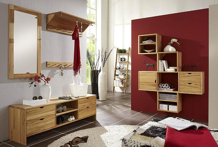 Flurmöbel aus massiver Wildeiche - Massivholzmöbel - Gardrobe, Sideboard, Spiegel mit Rahmen,..