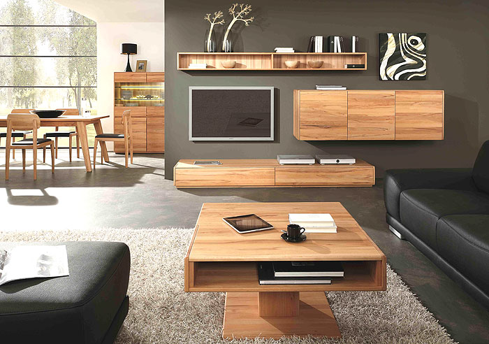 Wimmer Wohnkollektion - Wohnzimmermöbel - Rotkernbuche