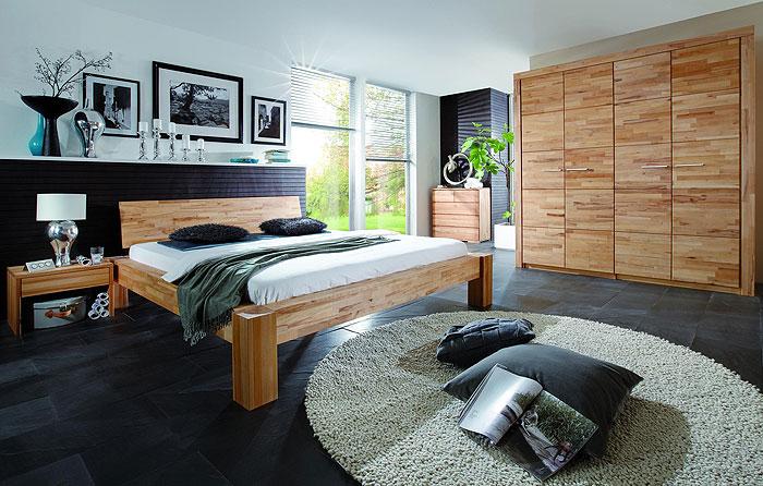 Massivholz Schlafzimmer Hercules aus Kernbuche gefertigt - massiv Holz