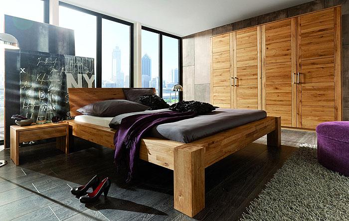 Massivholz Schlafzimmer Hercules aus Wildeiche massiv Holz