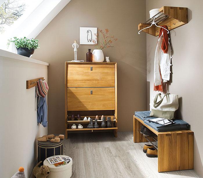 camilla Garderobenmöbel aus Wildeiche massiv Holz