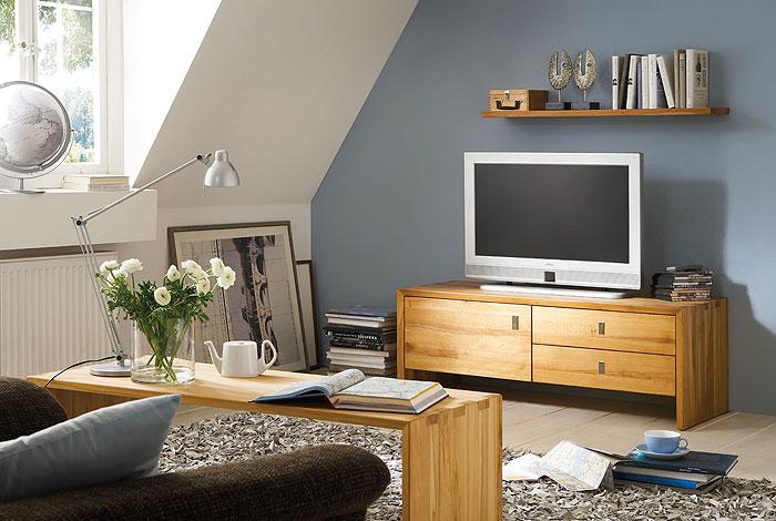 tv board hifi set wohnzimmer wildeiche massiv