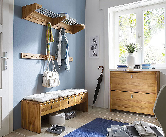 Garderobe Camilla Kernbuche massiv Holz
