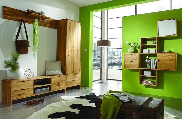 Take It Garderoben Set und Ausbewahrungen - Wildeiche massiv Holz