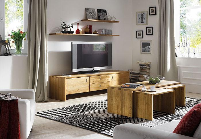 tv möbel wohnzimmer eiche massiv