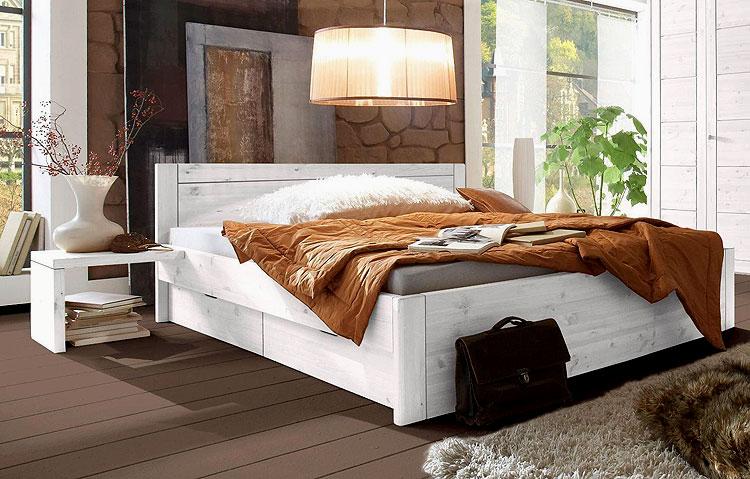 Kiefer Möbel - Schlafzimmer Doppelbett