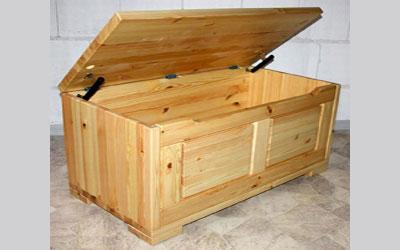 Holztruhe Truhe Kiefer massiv Holz lackiert