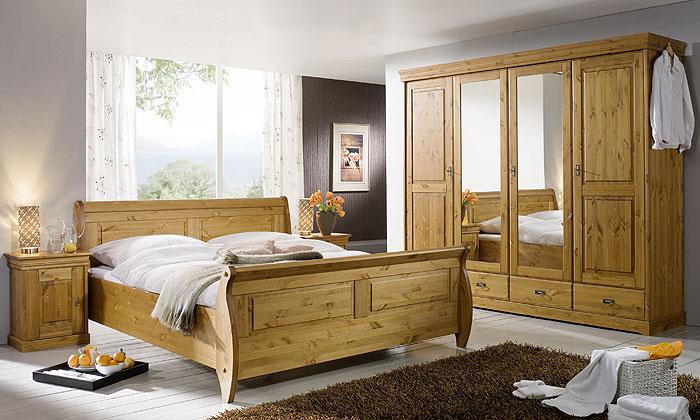 3S Frankenmöbel - Schlafzimmer Roland - Oberfläche honigfarben lackiert