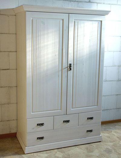 Kleiderschrank für Kinderzimmer - weiß Odette Kiefer Massivholz