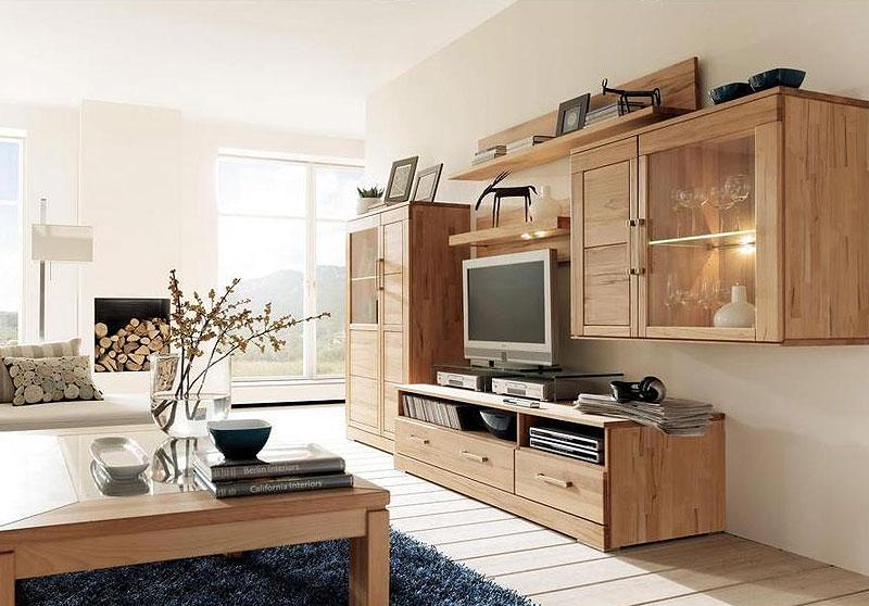anbauwand kernbuche massiv casera wohnzimmer wimmer wohnkollektion