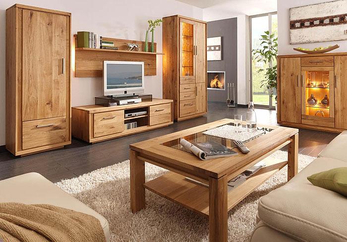 Anbauwand Neria Eiche massiv Holz geölt Wimmer Wohnkollektion