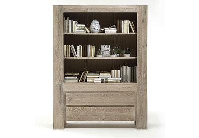 Bücherregal Boston Eiche Massivholz Oberfläche weiß geölt - Bodahl Möbler