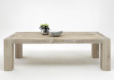 Couchtisch Boston - Eiche massiv Holz - weiss geölt - Bodahl Möbler