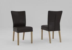 Echtholz Stühle Leder braun