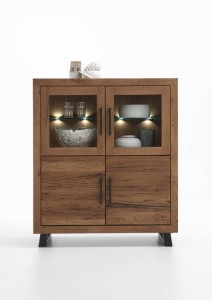 Massivholz Highboard Eiche Bodahl