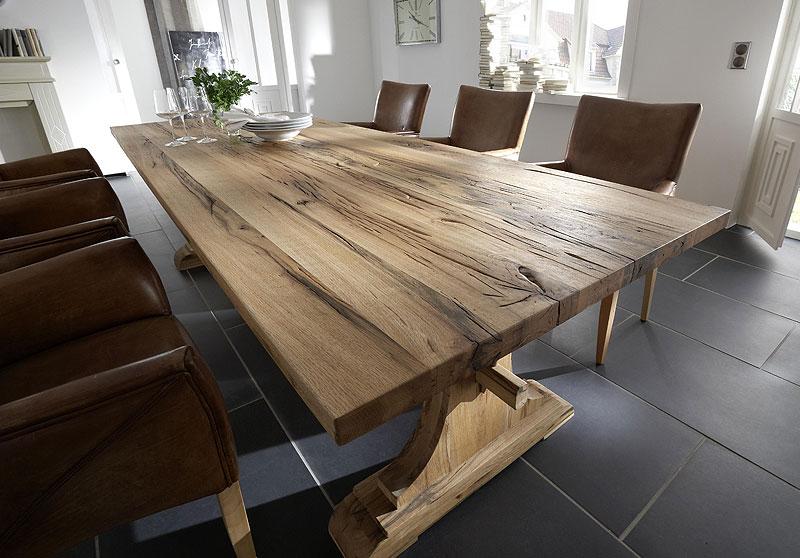 Esstisch San Carlo Eiche massiv Holz geölt Bodahl Moebeler