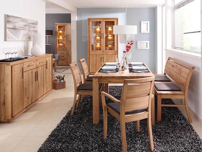 Esszimmer Set Neria Wildeiche Massiv Holz Geölt Wimmer Wohnkollektion