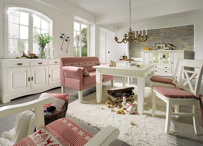 esszimmer komplett set paris landhausstil champagner lackiert kiefer massiv holz gomab wohnzimmer