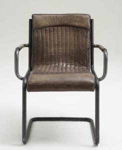 Esszimmer Stühle Leder braun Shabby Chic